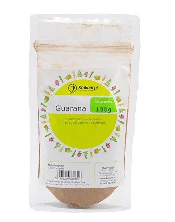 Guarana proszek 100g drobno mielona
